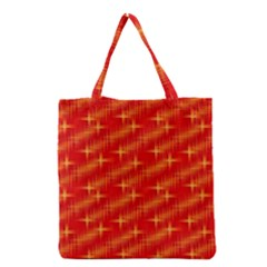 Many Stars,red Grocery Tote Bags