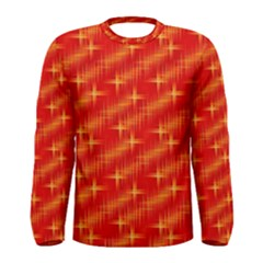 Many Stars,red Men s Long Sleeve T-shirts
