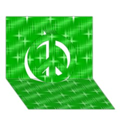 Many Stars, Neon Green Peace Sign 3D Greeting Card (7x5)