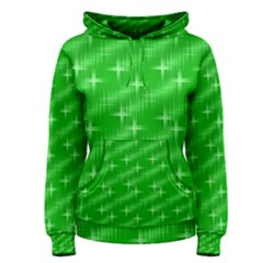 Many Stars, Neon Green Women s Pullover Hoodies