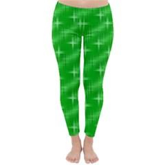 Many Stars, Neon Green Winter Leggings