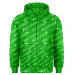 Many Stars, Neon Green Men s Zipper Hoodies