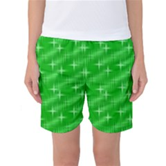 Many Stars, Neon Green Women s Basketball Shorts