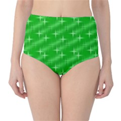 Many Stars, Neon Green High Waist Bikini Bottoms