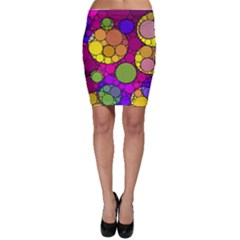 Florescent Abstract  Bodycon Skirts