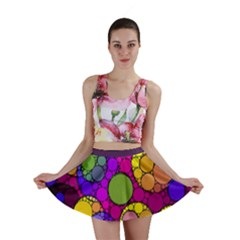 Florescent Abstract  Mini Skirts