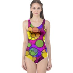 Florescent Abstract  Women s One Piece Swimsuits