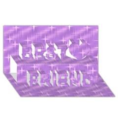 Many Stars, Lilac Best Friends 3D Greeting Card (8x4)