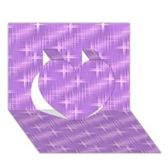 Many Stars, Lilac Heart 3d Greeting Card (7x5)