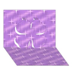 Many Stars, Lilac Clover 3D Greeting Card (7x5)
