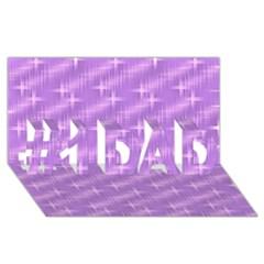 Many Stars, Lilac #1 DAD 3D Greeting Card (8x4)