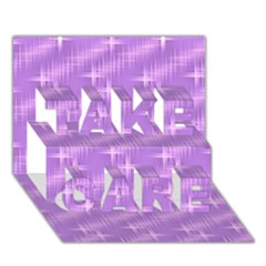 Many Stars, Lilac Take Care 3d Greeting Card (7x5)