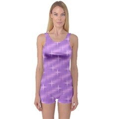 Many Stars, Lilac Women s Boyleg One Piece Swimsuits