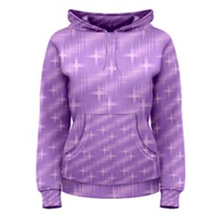 Many Stars, Lilac Women s Pullover Hoodies