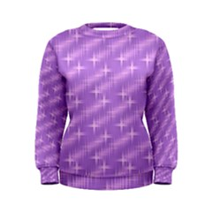 Many Stars, Lilac Women s Sweatshirts