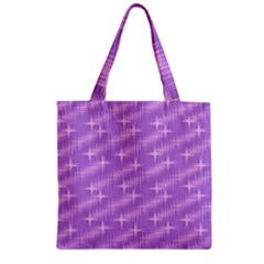 Many Stars, Lilac Zipper Grocery Tote Bags