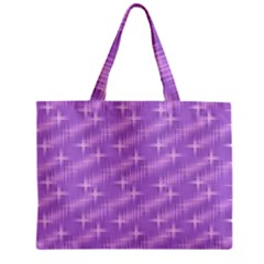 Many Stars, Lilac Zipper Tiny Tote Bags