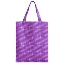 Many Stars, Lilac Zipper Classic Tote Bags