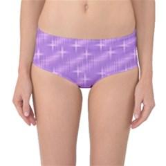 Many Stars, Lilac Mid-Waist Bikini Bottoms