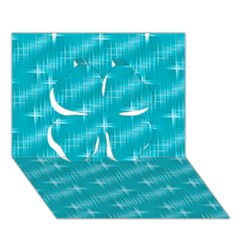 Many Stars,aqua Clover 3d Greeting Card (7x5)
