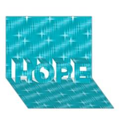 Many Stars,aqua HOPE 3D Greeting Card (7x5)