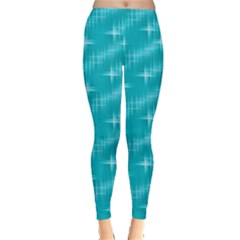 Many Stars,aqua Women s Leggings