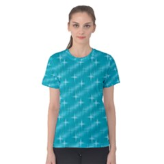 Many Stars,aqua Women s Cotton Tees