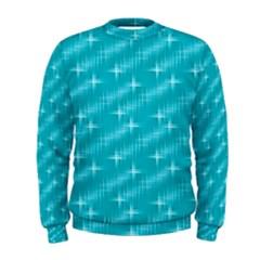 Many Stars,aqua Men s Sweatshirts