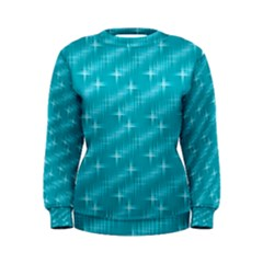 Many Stars,aqua Women s Sweatshirts