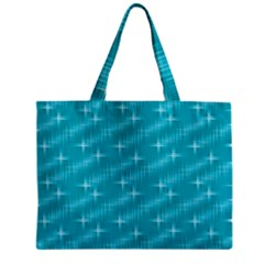 Many Stars,aqua Zipper Tiny Tote Bags