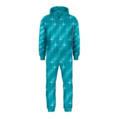 Many Stars,aqua Hooded Jumpsuit (kids)