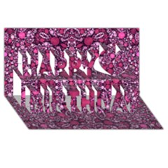 Crazy Beautiful Abstract  Happy Birthday 3D Greeting Card (8x4)
