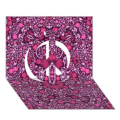 Crazy Beautiful Abstract  Peace Sign 3D Greeting Card (7x5)