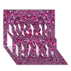 Crazy Beautiful Abstract  WORK HARD 3D Greeting Card (7x5)