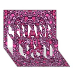 Crazy Beautiful Abstract  THANK YOU 3D Greeting Card (7x5)