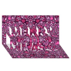 Crazy Beautiful Abstract  Merry Xmas 3d Greeting Card (8x4)