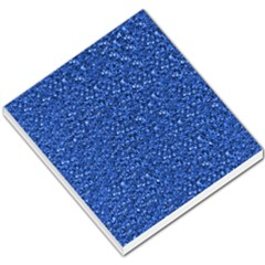Sparkling Glitter Blue Small Memo Pads
