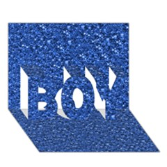 Sparkling Glitter Blue BOY 3D Greeting Card (7x5)