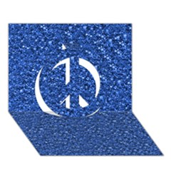 Sparkling Glitter Blue Peace Sign 3D Greeting Card (7x5)