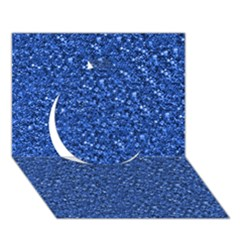 Sparkling Glitter Blue Circle 3D Greeting Card (7x5)