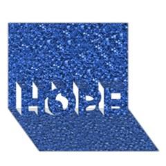 Sparkling Glitter Blue HOPE 3D Greeting Card (7x5)