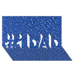 Sparkling Glitter Blue #1 DAD 3D Greeting Card (8x4)