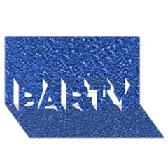 Sparkling Glitter Blue PARTY 3D Greeting Card (8x4)