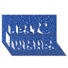 Sparkling Glitter Blue Best Wish 3d Greeting Card (8x4)