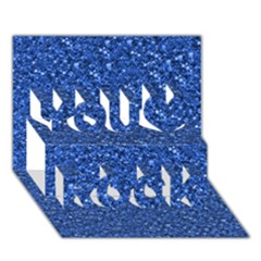 Sparkling Glitter Blue You Rock 3d Greeting Card (7x5)
