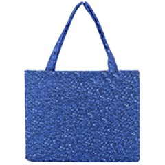 Sparkling Glitter Blue Tiny Tote Bags
