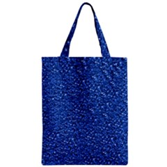 Sparkling Glitter Blue Classic Tote Bags