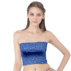 Sparkling Glitter Blue Women s Tube Tops