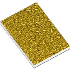 Sparkling Glitter Golden Large Memo Pads
