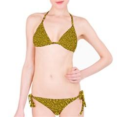 Sparkling Glitter Golden Bikini Set